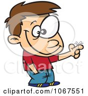 Clipart Boy With A Reminder Ribbon Royalty Free Vector Illustration by toonaday