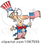 Clipart Patriotic Uncle Sam Royalty Free Vector Illustration by Ron Leishman