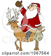 Clipart Santa On A Reindeer Royalty Free Vector Illustration by djart
