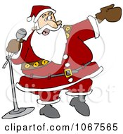 Clipart Santa Introducing Royalty Free Vector Illustration by djart