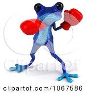 3d Blue Springer Frog Boxing 3
