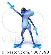 3d Blue Springer Frog Dancing 1