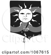Clipart Girls Climbing A Rope To A Sun Basket Royalty Free Vector Illustration by xunantunich