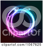 Clipart Blue And Purple Neon Circle Royalty Free Vector Illustration