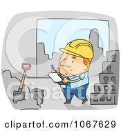 Clipart Foreman Inspecting Construction Work Royalty Free Vector Illustration