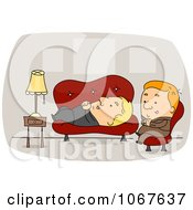 Clipart Psychiatrist Listening To A Patient Royalty Free Vector Illustration