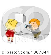 Clipart Model Posing For A Photographer Royalty Free Vector Illustration