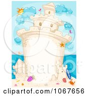 Clipart Tall Sand Castle Background With Copyspace Royalty Free Vector Illustration