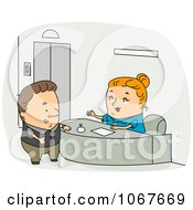 Clipart Receptionist Assisting A Customer Royalty Free Vector Illustration by BNP Design Studio