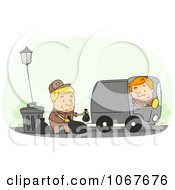 Clipart Garbage Men Doing Their Rounds Royalty Free Vector Illustration by BNP Design Studio