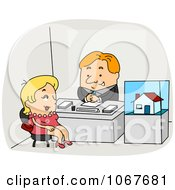 Clipart Real Estate Agent Speaking With A Client Royalty Free Vector Illustration