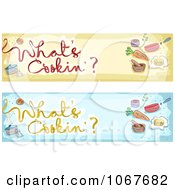 Clipart Whats Cookin Website Banners Royalty Free Vector Illustration