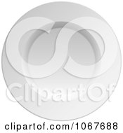 Clipart 3d White China Plate Royalty Free Vector Illustration