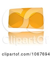 Clipart 3d Orange Envelope Royalty Free Vector Illustration by michaeltravers