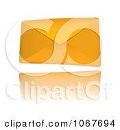 Clipart 3d Orange Envelope Royalty Free Vector Illustration