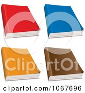 Clipart Colorful 3d Paperback Magazines Or Books Royalty Free Vector Illustration