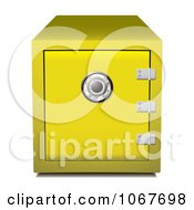 Clipart 3d Gold Bank Safe Royalty Free Vector Illustration