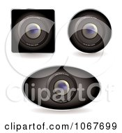 Clipart 3d Web Cams Royalty Free Vector Illustration by michaeltravers