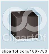 Clipart 3d Cube In Glass Royalty Free Vector Illustration by michaeltravers