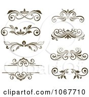 Clipart Brown Ornate Scroll Designs 1 Royalty Free Vector Illustration