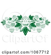 Clipart Hops And Leaves Royalty Free Vector Illustration