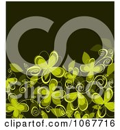 Clipart Green Floral Clover Background Royalty Free Vector Illustration by Vector Tradition SM
