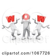 Clipart 3d WOW People Dancing Royalty Free CGI Illustration