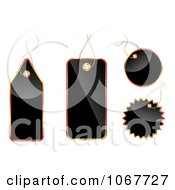 Clipart Shiny Black And Red Tags Royalty Free Vector Illustration by vectorace