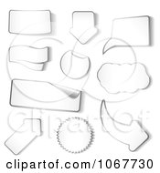 Clipart White Sticker Design Elements Royalty Free Vector Illustration