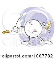 Clipart Intense Moodie Character Throwing Darts Royalty Free Vector Illustration
