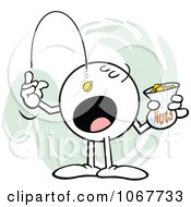 Clipart Moodie Character Tossing Peanuts In His Mouth Royalty Free Vector Illustration