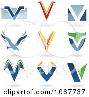 Clipart Letter V Logo Icons Royalty Free Vector Illustration