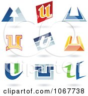 Clipart Letter U Logo Icons Royalty Free Vector Illustration
