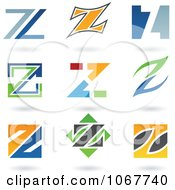 Clipart Letter Z Logo Icons Royalty Free Vector Illustration