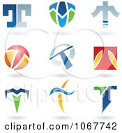 Clipart Letter T Logo Icons Royalty Free Vector Illustration