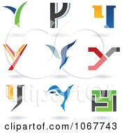 Clipart Letter Y Logo Icons Royalty Free Vector Illustration