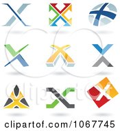 Clipart Letter X Logo Icons Royalty Free Vector Illustration by cidepix #COLLC1067745-0145