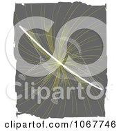Clipart Transparent UFO On A Gray Swirl Royalty Free Vector Illustration by mheld