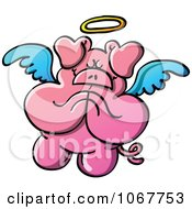 Clipart Pig Angel In Prayer Royalty Free Vector Illustration by Zooco
