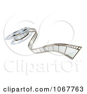 Clipart 3d Cinema Film Reel And Strip Royalty Free Vector Illustration