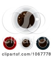 Clipart Coffee Cups From Above Royalty Free Vector Illustration by MilsiArt