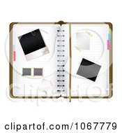 Clipart Blank Photos On An Organizer Royalty Free Vector Illustration by MilsiArt