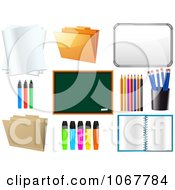 Clipart Office And School Supplies Royalty Free Vector Illustration by elaineitalia