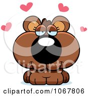 Clipart Loving Bear Cub Royalty Free Vector Illustration