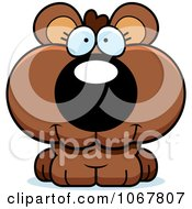 Clipart Smiling Bear Cub Royalty Free Vector Illustration by Cory Thoman