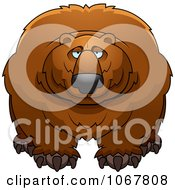 Clipart Large Bear Royalty Free Vector Illustration by Cory Thoman