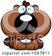Clipart Smiling Baby Beaver Royalty Free Vector Illustration by Cory Thoman