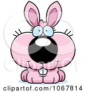 Clipart Smiling Pink Bunny Royalty Free Vector Illustration by Cory Thoman