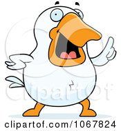 Clipart White Duck With An Idea Royalty Free Vector Illustration by Cory Thoman