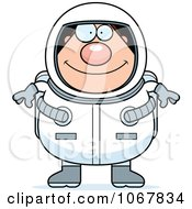 Clipart Pudgy Male Astronaut Royalty Free Vector Illustration by Cory Thoman
